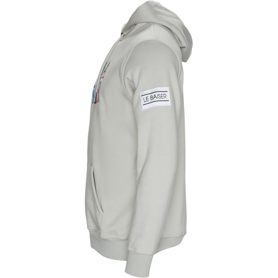 ULIVE - Ulive Hoodie - Sweatshirts - Regular - MID GREY - 3
